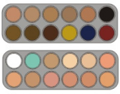 Grimas Camouflage Make-up Palette CK 24 x 2,5ml